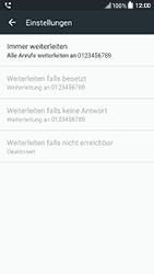 HTC One A9s - Anrufe - Rufumleitungen setzen und löschen - Schritt 8