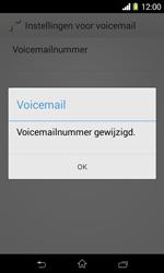 Sony D2005 Xperia E1 - Voicemail - handmatig instellen - Stap 9