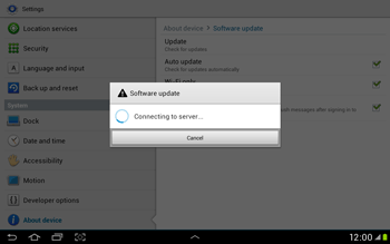 Samsung Galaxy Tab 2 10.1 - Software - Installing software updates - Step 10