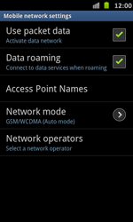 Samsung Galaxy S Advance - Internet and data roaming - Disabling data roaming - Step 6