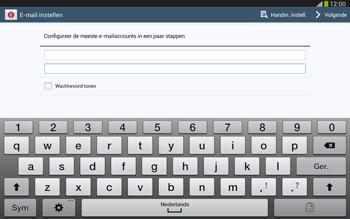 Samsung P5220 Galaxy Tab 3 10-1 LTE - E-mail - e-mail instellen: IMAP (aanbevolen) - Stap 6