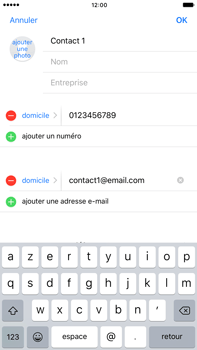 Apple iPhone 7 Plus - Contact, Appels, SMS/MMS - Ajouter un contact - Étape 11