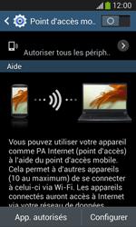 Samsung Galaxy Ace 3 - Internet et connexion - Partager votre connexion en Wi-Fi - Étape 10