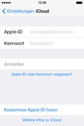 Apple iPhone 4S iOS 7 - Apps - Konfigurieren des Apple iCloud-Dienstes - Schritt 4