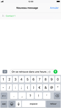 Apple iPhone 7 Plus - iOS 11 - Contact, Appels, SMS/MMS - Envoyer un SMS - Étape 8