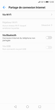 Huawei P Smart - Internet et connexion - Partager votre connexion en Wi-Fi - Étape 6