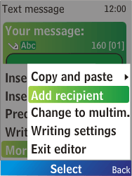 Nokia X2-00 - MMS - Sending pictures - Step 5