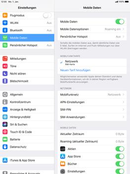 Apple iPad Pro 9.7 inch - iOS 12 - Ausland - Auslandskosten vermeiden - Schritt 6