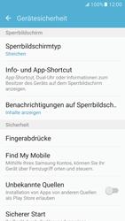 Samsung Galaxy S7 - Datenschutz und Sicherheit - Zugangscode einrichten - 5 / 15