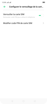 Oppo A9 2020 - Sécuriser votre mobile - Personnaliser le code PIN de votre carte SIM - Étape 7