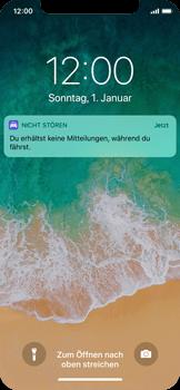 """Apple iPhone X - iOS 11 - Nicht stören – Sicheres Fahren – """"Do Not Disturb while Driving"""" deaktivieren (für Fahrer) - 3 / 6"""