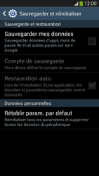 Samsung Galaxy S 4 LTE - Téléphone mobile - Réinitialisation de la configuration d