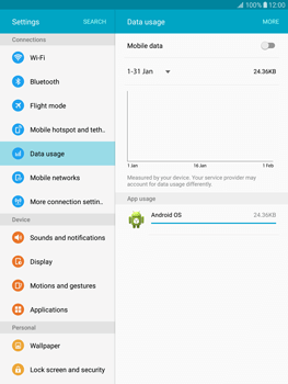Samsung T815 Galaxy Tab S2 9.7 - Internet - Disable mobile data - Step 7