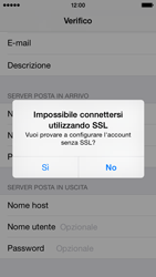 Apple iPhone 5c - iOS 8 - E-mail - configurazione manuale - Fase 14