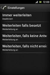 Sony Xperia Miro - Anrufe - Rufumleitungen setzen und löschen - 6 / 9