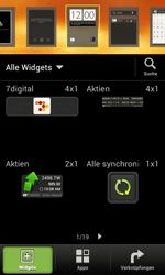 HTC One SV - Startanleitung - Installieren von Widgets und Apps auf der Startseite - Schritt 3