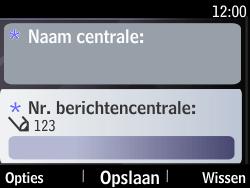 Nokia Asha 210 - SMS - Handmatig instellen - Stap 9