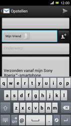 Sony ST26i Xperia J - e-mail - hoe te versturen - stap 7