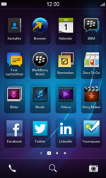 BlackBerry Z10 - WLAN - Manuelle Konfiguration - Schritt 1