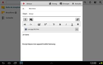 Samsung P5100 Galaxy Tab 2 10-1 - E-mail - envoyer un e-mail - Étape 14