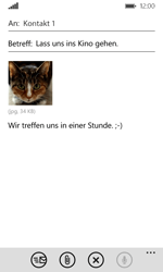 Microsoft Lumia 532 - E-Mail - E-Mail versenden - Schritt 13