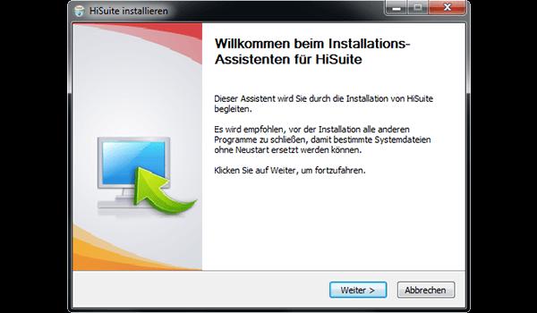 Huawei P10 - Software - Installieren von Software zur PC-Synchronisierung - Schritt 5