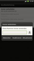 HTC S720e One X - Anrufe - Rufumleitungen setzen und löschen - Schritt 9