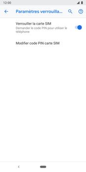 Google Pixel 3 - Sécuriser votre mobile - Personnaliser le code PIN de votre carte SIM - Étape 7