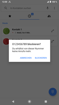 Sony Xperia XZ2 Premium - Android Pie - Anrufe - Anrufe blockieren - Schritt 6