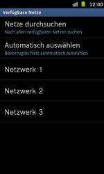 Samsung Galaxy S Advance - Netzwerk - Manuelle Netzwerkwahl - Schritt 9