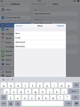 Apple iPad Pro 10.5 inch - iOS 11 - E-mail - Account instellen (POP3 met SMTP-verificatie) - Stap 9