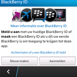 BlackBerry Q5 - Applicaties - Account aanmaken - Stap 7