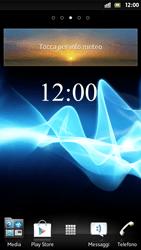 Sony Xperia S - Operazioni iniziali - Installazione di widget e applicazioni nella schermata iniziale - Fase 7
