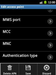 Samsung Galaxy Pocket - MMS - Manual configuration - Step 14