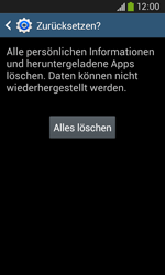 Samsung Galaxy Core Plus - Fehlerbehebung - Handy zurücksetzen - 9 / 11