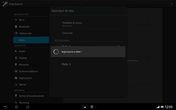 Sony Xperia Tablet Z LTE - Rete - Selezione manuale della rete - Fase 9