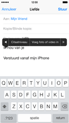 Apple iPhone 5 iOS 8 - E-mail - hoe te versturen - Stap 10