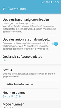 Samsung Galaxy J7 (2016) (J710) - software - update installeren zonder pc - stap 5