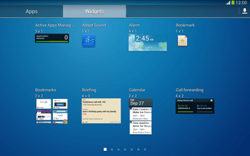 Samsung Galaxy Tab 3 10-1 LTE - Getting started - Installing widgets and applications on your start screen - Step 7