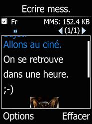 Doro 6520 - Contact, Appels, SMS/MMS - Envoyer un MMS - Étape 15