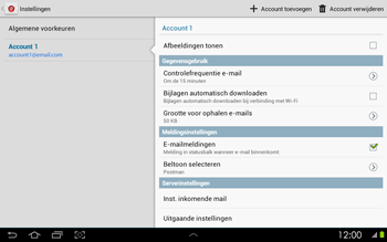 Samsung P5100 Galaxy Tab 2 10-1 - E-mail - Instellingen KPNMail controleren - Stap 26