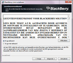 BlackBerry Z30 - software - pc suite installeren - stap 6