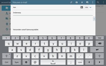 Samsung T805 Galaxy Tab S - E-mail - E-mails verzenden - Stap 5