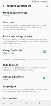 Samsung Galaxy A7 2018 - Sécuriser votre mobile - Activer le code de verrouillage - Étape 12