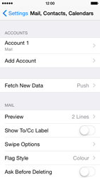 Apple iPhone 5c - iOS 8 - Email - Manual configuration POP3 with SMTP verification - Step 16