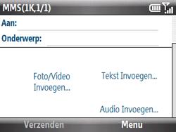 HTC S521 Snap - MMS - Afbeeldingen verzenden - Stap 6