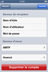 Apple iPhone 4S - E-mail - Configuration manuelle - Étape 13