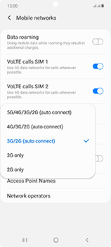 Samsung Galaxy Note 20 5G - Network - How to enable 4G network connection - Step 7