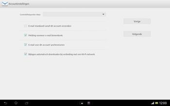 Sony SGP321 Xperia Tablet Z LTE - E-mail - e-mail instellen: IMAP (aanbevolen) - Stap 17