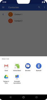 Nokia 7-1 - Contactgegevens overzetten - delen via Bluetooth - Stap 9